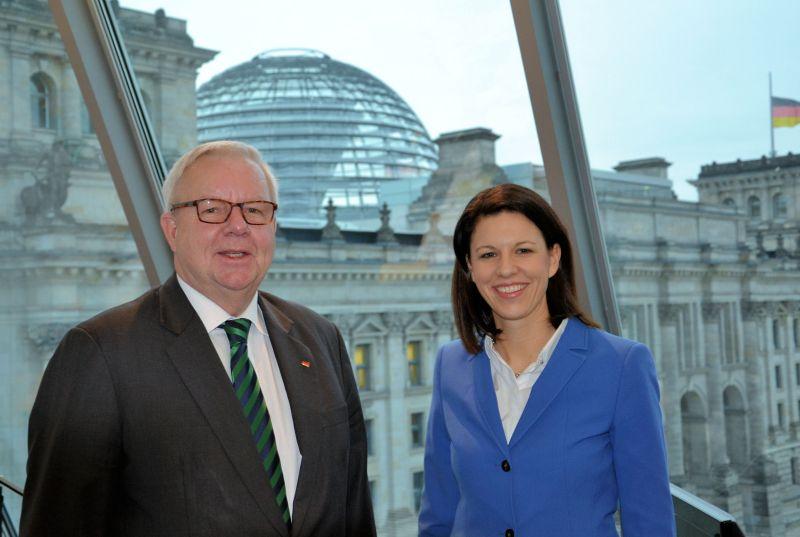 Im Gespräch mit dem stellvertretenden Vorsitzenden der CDU/CSU-Bundestagsfraktion Dr. Michael Fuchs.