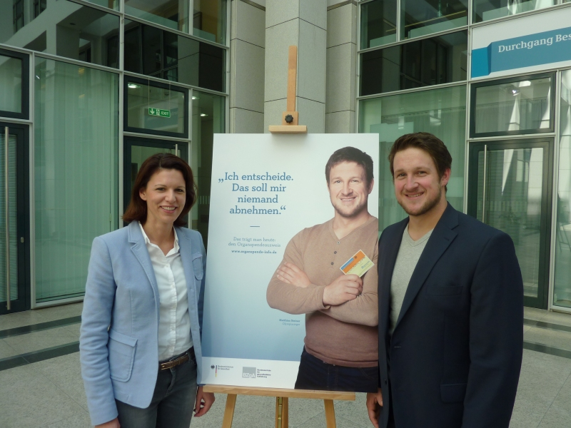 Mit Olympiasieger Matthias Steiner bei der Vorstellung der Organspende-Kampagne des Bundesministeriums für Gesundheit