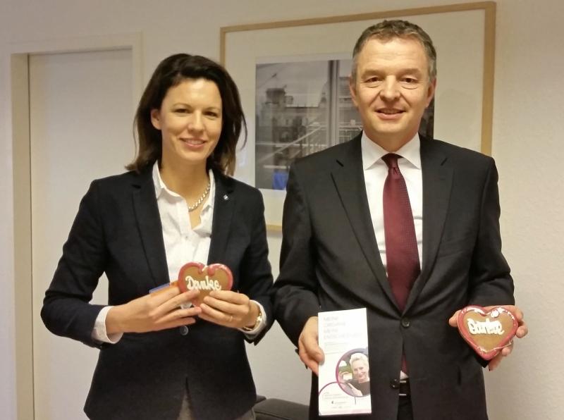 Dr. Katja Leikert und Norbert F. Sudhoff