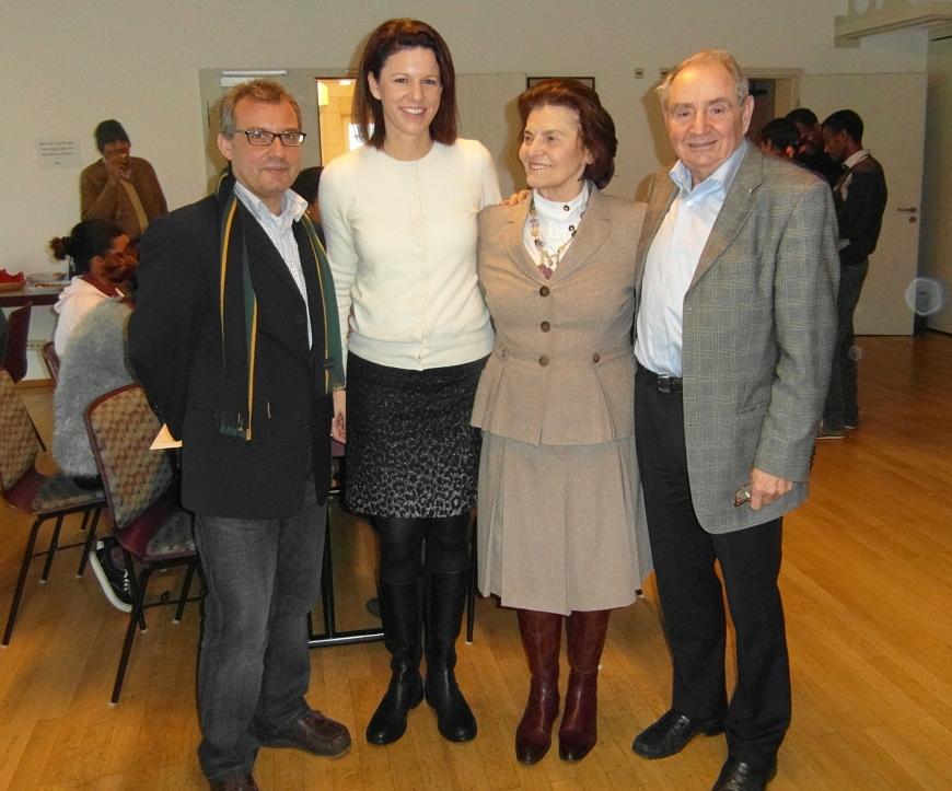 Klearchos Aliferis, Dr. Katja Leikert, Marija Majal und Konrad Jung (von links)