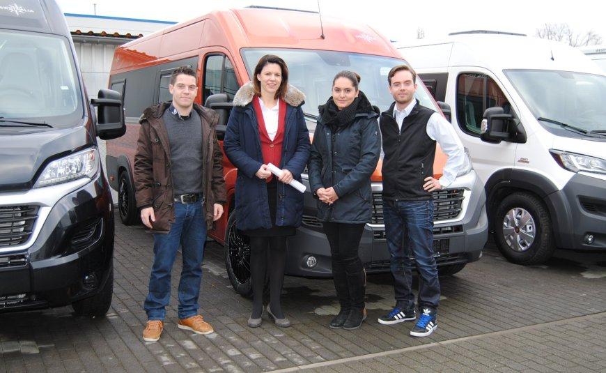 Carsten Heck, Dr. Katja Leikert MdB, Michelle Stadler (stellv. Vorsitzende CDU-Langenselbold), Patrick Heck.