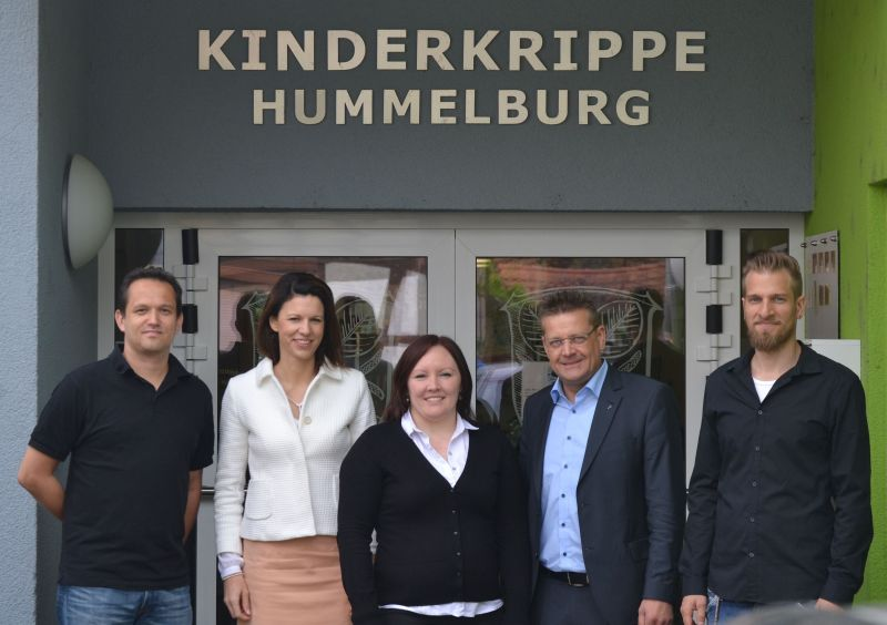 Kay Skujat, Dr. Katja Leikert, Ina Pinkernell, Stefan Erb und Christian Becker, von links