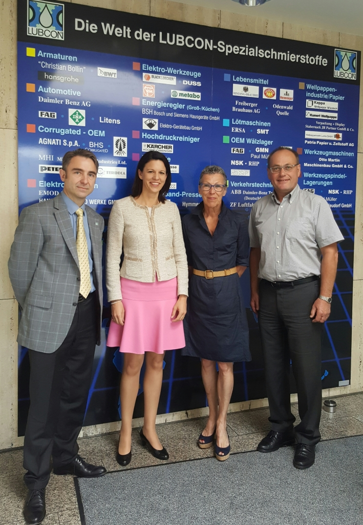 V.l.n.r.: Stephan Holzapfel, Dr. Katja Leikert, Hedy Engelke und Erhard Rohrbach.