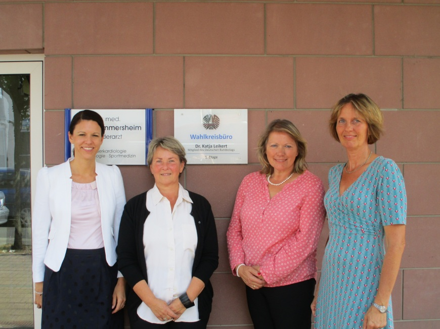 V.l.n.r.: Dr. Katja Leikert, Dagny Misera, Gabriele Kopp und Susanne Rau